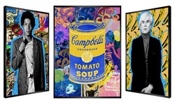 Basquiat x Warhol by Patrick Rubinstein - Kinetic sized 39x58 inches. Available from Whitewall Galleries